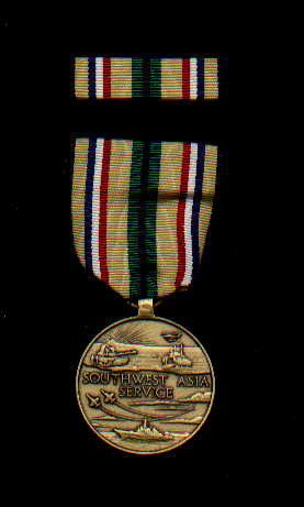 1. Desert Storm Service medal with ribbon bar