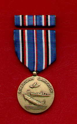 WWII AMERICAN CAMPAIGN MEDAL WITH RIBBON BAR