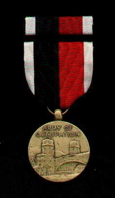 US ARMY OF OCCUPATION MEDAL WITH RIBBON BAR