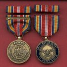 WWII 50TH ANNIVERSARY COMMEMORATIVE MEDAL WITH RIBBON BAR