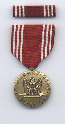US Army Good Conduct medal with ribbon bar