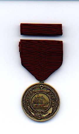 US Navy Good Conduct medal with ribbon bar