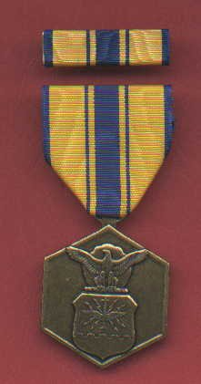 US Air Force Commendation medal with ribbon bar