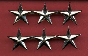 Pair of Three Star General's rank insignia