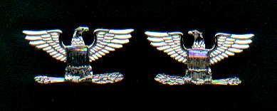 Pair of Colonel Eagles rank insignia