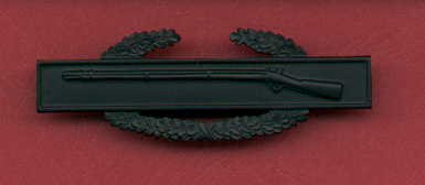 Combat Infantry Badge in subdued combat black