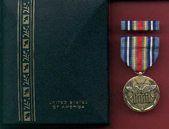 Global War on Terror Expeditionary medal in case with ribbon bar and lapel pin