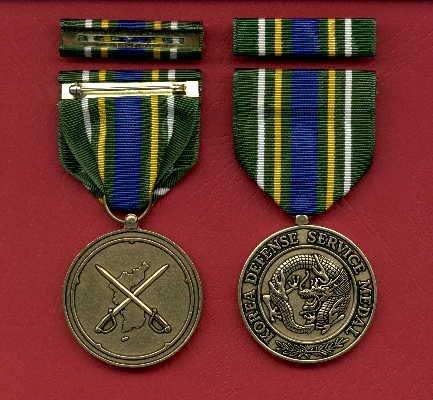 Korean Defense Service medal with ribbon bar