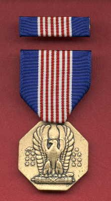 Soldiers medal with ribbon bar