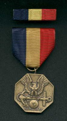 Navy and Marine Corps medal for Heroism with ribbon bar
