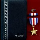 Silver Star Award medal in case with ribbon bar and lapel pin
