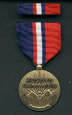 US Kosovo Campaign medal with ribbon bar