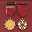 Legion of Merit medal with ribbon bar