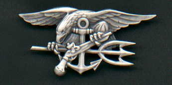 US Navy SEAL Badge in silver enlisted rank