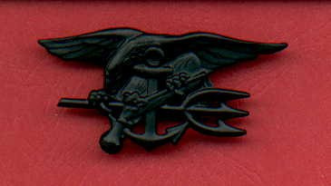 US Navy SEAL Badge in subdued combat black