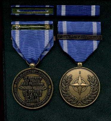 NATO medal with Former Yougoslavia bar