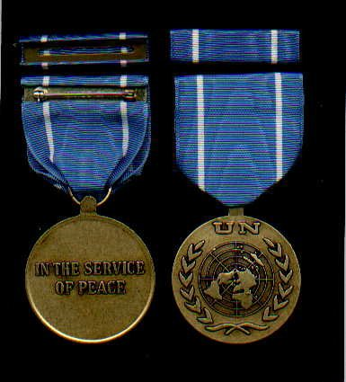 UN United Nations medal with ribbon bar