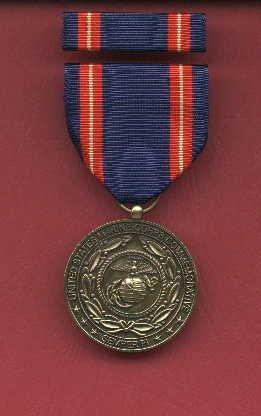 USMC Marine Corps Commemorative medal with ribbon bar