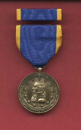Presidential Unit Citation medal with ribbon bar