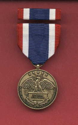 American Defense Service Commemorative medal with ribbon bar