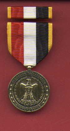 Operation Iraqi Freedom medal with ribbon bar
