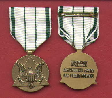 US Army Commanders Award for Public Service medal
