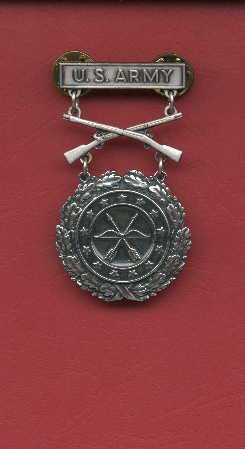 US Army Excellence in Competition for Rifleman badge in silver