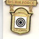 USAF US Air Force Distinguished Rifleman Badge in gold