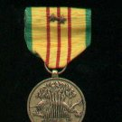 Vietnam Service medal with two bronze devices on medal and ribbon bar
