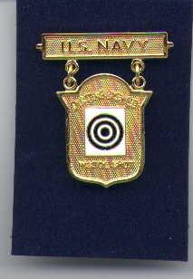 US Navy Distinguished Pistol Shot badge in gold