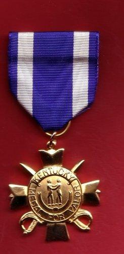 Kentucky KY National Guard Medal for Valor full size medal