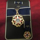 US Presidential Medal of Freedom Award in case with ribbon bar, mini medal and lapel pin