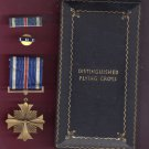 WWII Distinguished Flying Cross medal with ribbon bar in case  DFC