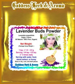 Lavender Flower Buds Powder (Lavandula angustifolia) France Organic Grown All Natural - 1 LB