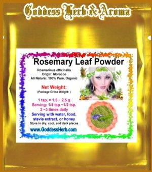 Rosemary Leaf Powder (Rosmarinus officinalis) Morocco Organic Grown All Natural - 1 LB