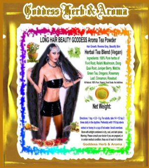 LONG HAIR BEAUTY GODDESS Aroma Tea Powder Organic Grown All Natural - 1 LB