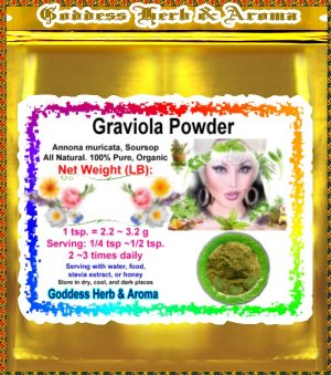 Graviola Powder (Soursop) Organic Grown All Natural Wild Crafted 100% Pure- 1 LB