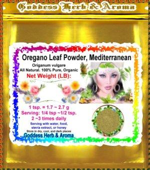 Oregano Leaf Powder, Mediterranean (Origanum vulgare) Turkey Organic Grown - 1 LB
