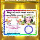 Magnesium Citrate Powder Organic Grown All Natural - 1 LB