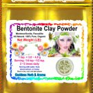 Bentonite Clay Powder (montmorillonite, Pascallite) Organic Grown All Natural - 1 LB