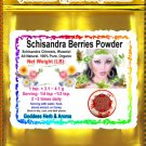 Schisandra berries powder (Schisandra Chinesis, Wuweizi) Organic Grown All Natural - 1 LB