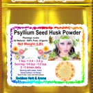 Psyllium Seed Husk Powder (Plantago ovata) Organic Grown All Natural Wild Crafted 100% Pure- 1 LB