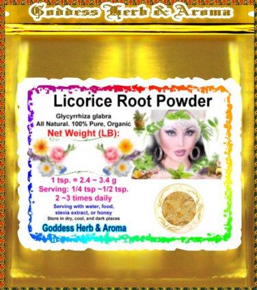 Licorice Root Powder (Glycyrrhiza glabra) Organic Grown All Natural Wild Crafted 100% Pure - 1LB