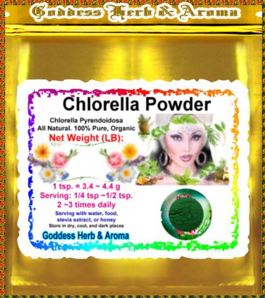 Chlorella Powder (Chlorella Pyrendoidosa) Organic Grown All Natural Wild Crafted- 1 LB