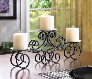 Tuscan Candle Mantle Centerpiece Candle Holder