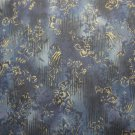 Novelty Gold Design-Navy Tone on Tone B/G-Trieste Col.-R. Kaufman-BTY
