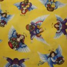 Touched by An Angel By Jim Shore for Quilting Treasures-BTY-Angels on Gold B/G