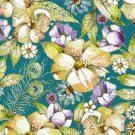 Pretty As A Peacock Floral Print-Quilting Treasures-BTY