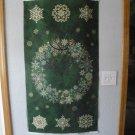"Starry Night II"" Green Wreath Panel by Northcott Fabrics-23"" x 44"
