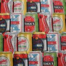 Beer Cans Stacked in All Over Design-Kanvas Studio-BTY-Beer-Man Cave-Suds